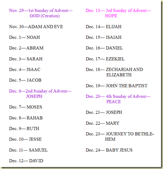 ... Elizabeth Advent and the jesse tree - printable file and ornaments